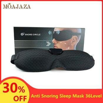 Smart Snore Stopper Sleep Mask 36 Level Vibration Anti Snoring  Eye Mask Comfortable Blindfold For Sleeping Travel Office Home