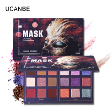 UCANBE Mask Shimmer Matte Eyeshadow Makeup Palette 18 Colors Glitter Pigmented Eye Shadow Sombras Long Lasting Cosmetics shimmer matte eyeshadow glitter waterproof long lasting metallic pigmented 42 colors eye shadow palette beauty makeup palette
