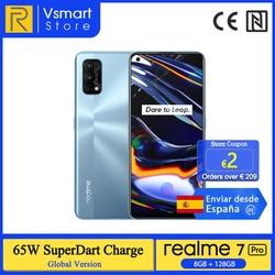 Новый смартфон глобальная версия realme 7 Pro, 8 ГБ, 128 ГБ, Snapdragon 720G, AMOLED экран 6,4 дюйма, четыре камеры 64 мп, 65 Вт, SuperDart Charge