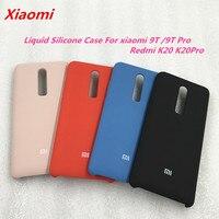 Original Xiaomi Mi 9T Pro Redmi K20 Pro sedoso suave de silicona líquida cubierta protectora del teléfono caso para Redmi K20 Mi 9 caso