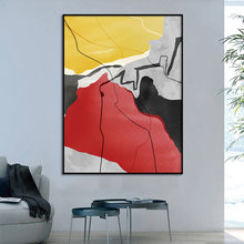 Abstract colorful Wall Art Poster and Print Canvas Painting Decorative Picture Home Decor dancing butterfly abstract canvas painting wall art poster and print scandinavian decorative picture modern home decoration