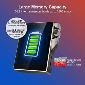 Image 5 - タッチスクリーンMP3プレーヤーbluetooth 16ギガバイトハイファイ音楽プレーヤー高解像度ロスレスウォークマンオーディオビデオ電子書籍ラジオ録音