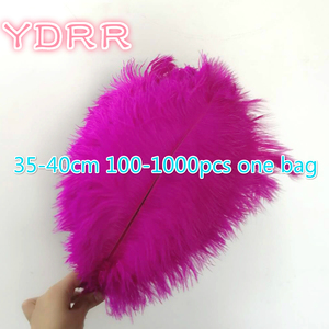 35-40 cm cheap ostrich feathers 100-1000 pieces one bag multi-colors available wedding feather ostrich for sale