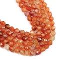 YHBZRET граненый красный сердолик натуральный камень 8 мм 44 шт амулеты разделители Агаты e свободные бусины для изготовления украшений вручную ...