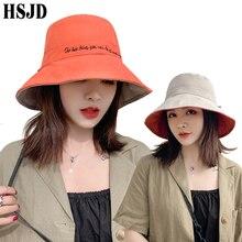 Bucket-Hat Street-Headwear Double-Sided-Panama Wide-Brim Foldable Korean Beach Woman