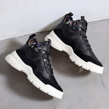Fashion High Top Sneakers Women Brand White Sneakers Women Shoes Sneakers 2019 New Black Platform dames sneakers Chunky Sneakers silver chunky sneakers women brand glitter sneakers women 2019 new women shoes sneakers dames black sneaker winter autumn women