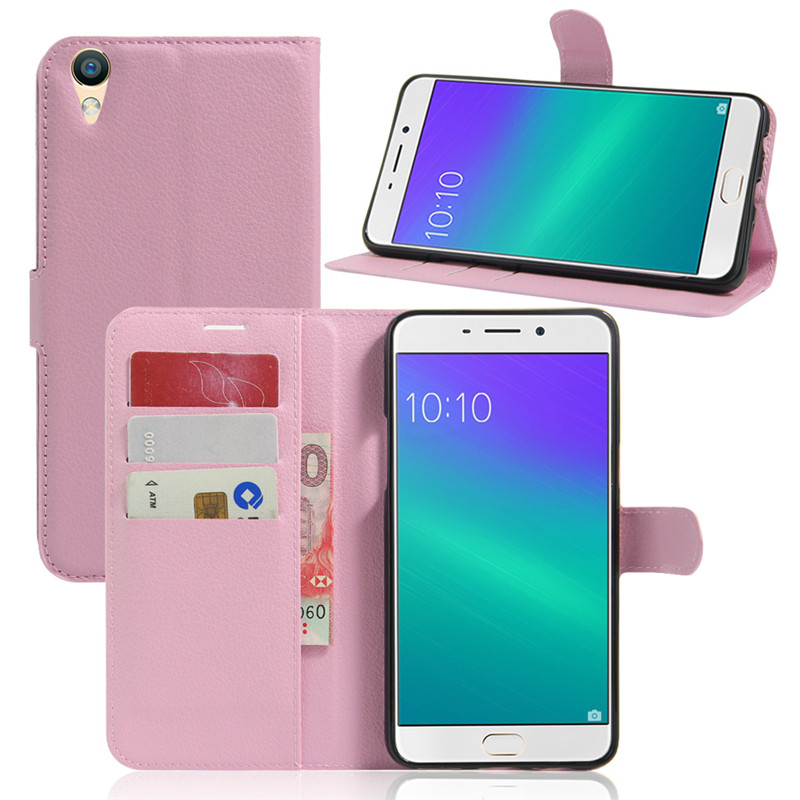 Soft Flip Wallet <font><b>Case</b></font> Cover PU Leather Phone Shell For <font><b>OPPO</b></font> R9 Plus F1S <font><b>A35</b></font> R7 R9s A37 A59 A57 A77 F1 R11S A71 F3 F5 A83 R15 F7 image