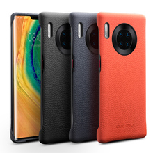 Genuine Leather Back Case For Huawei Mate 30 Pro Case For Huawei Mate 30 / Pro Back cover Luxury Litchi Pattern Phone Bag Case