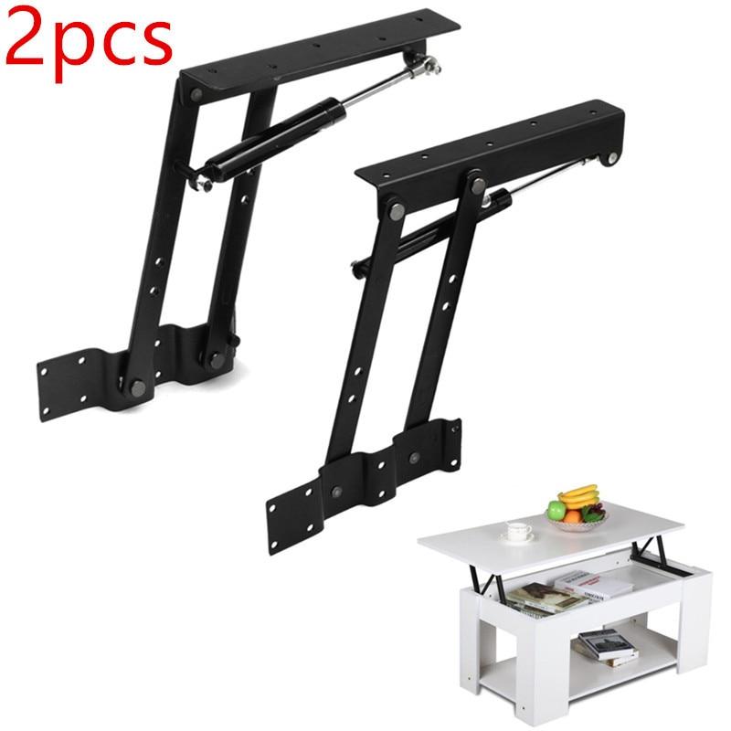 2pcs Folding Spring Tea Table Hinge Furniture Lifting Roof Mechanism Hardware Lifting Frame Coffee Computer Table Frame