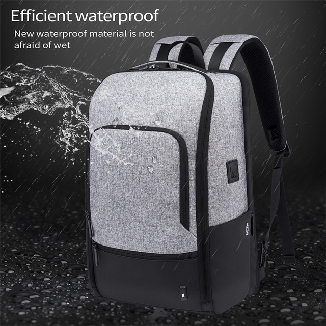 Bange Fashion Men 15.6inch Laptop Backpack Anti-theft Technology Business Backpack Waterproof USB RechargeTravel Backpack 2