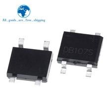 10PCS SMD DB107 DB107S 1A 1000V Einzelphasen-diodengleichrichter-brücke
