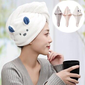 PeafowlBlue Girls Super Absorption Turban Hair Drying Towel Quick-Dry Cartoon Koala Microfiber Pink