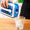 Blue Folding Ice Lattice Food Grade Silica Gel Storage Ice Box 36 Lattice Ice Mould Wine Quick Freezing Ice Making Kettle