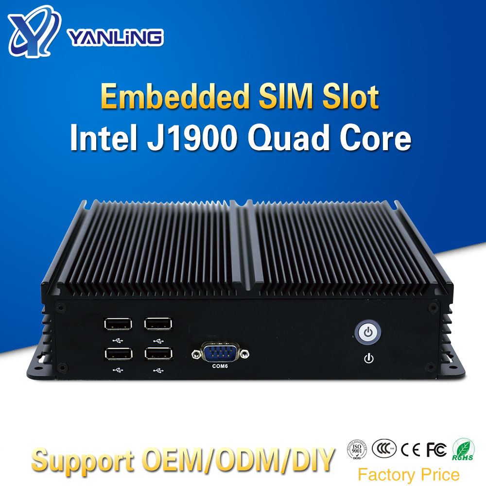 Yanling Assemble Mini ITX Computer Desktop PC With Celeron J1900 Quad Core 6 RS232 COM 1 USB3.0 5 USB2.0 Support Windows 7 8 10