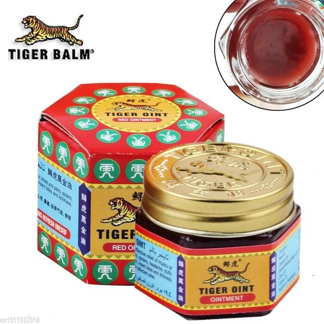 Red tiger bálsamo panacéia pomada tailândia analgésico leão bálsamo pomada alívio da dor muscular pomada aliviar a coceira massagem 19.5g