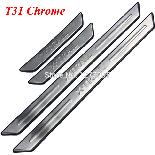 Car Styling Accessories JABL 4Pcs Auto Stainless Steel Door Sill Kick Plates for Nissan X-Trail X Trail T31 Xtrail T32 Threshold Pedal Anti Scratch Sticker Trim Protection