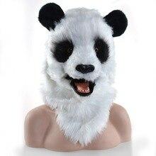 Новые Искусственные парики с гигантской пандой для взрослых, маска для выступлений, Плюшевые Головные уборы в виде животных, для видеосъемки