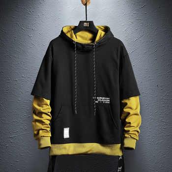 Sweat à capuche Pour Hommes Hip Hop Sweat À Capuche Streetwear Décontracté Mode Vêtements colorblock sweat à capuche coton