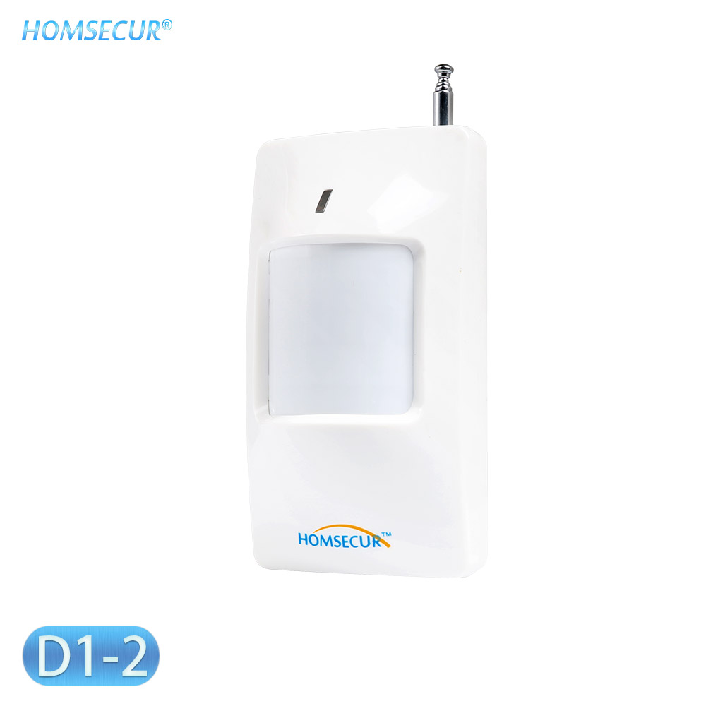 HOMSECUR D1-2 Wireless PIR Motion Sensor Detector 433MHz (1pcs/3pcs/10pcs Optional)for Home Alarm Burglar System
