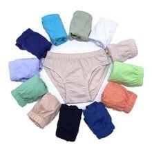 Panties Kids Children Underwear Briefs Shorts 1-10years Boys Solid 12pcs/Lot Suit Random-Colors