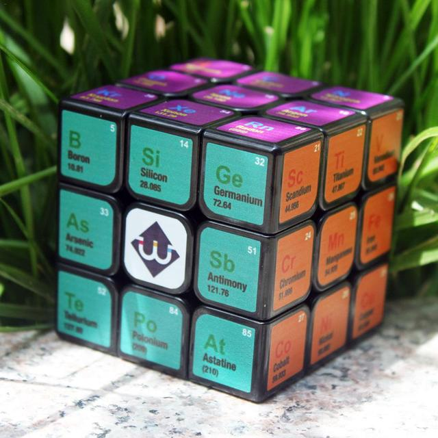 Professional Cube 3x3x3 5.6CM Speed For Magic Cube Chemical Element Periodic Table 3rd-order Cube Learning Formula Education Toy 4