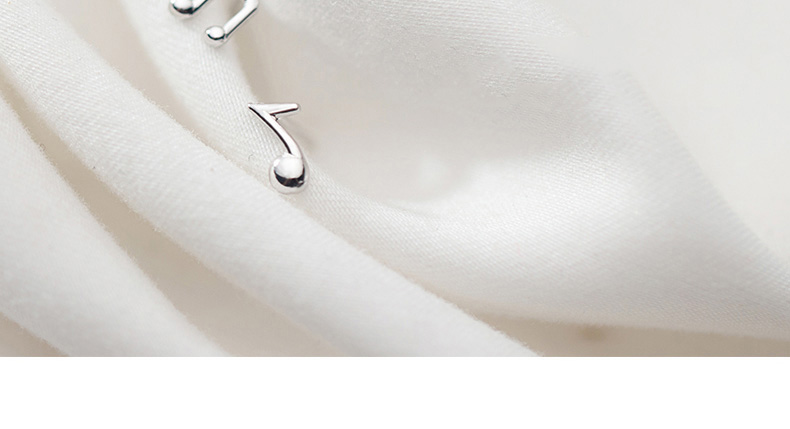 925 Sterling Silver Fashion Music Notation Earrings