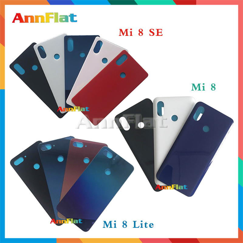 High Quality For <font><b>Xiaomi</b></font> <font><b>Mi</b></font> <font><b>8</b></font> / Mi8 Lite / <font><b>Mi</b></font> 8SE Back Housing <font><b>Battery</b></font> <font><b>Cover</b></font> Door Rear <font><b>Cover</b></font> Glass with Adhesive Replacement image