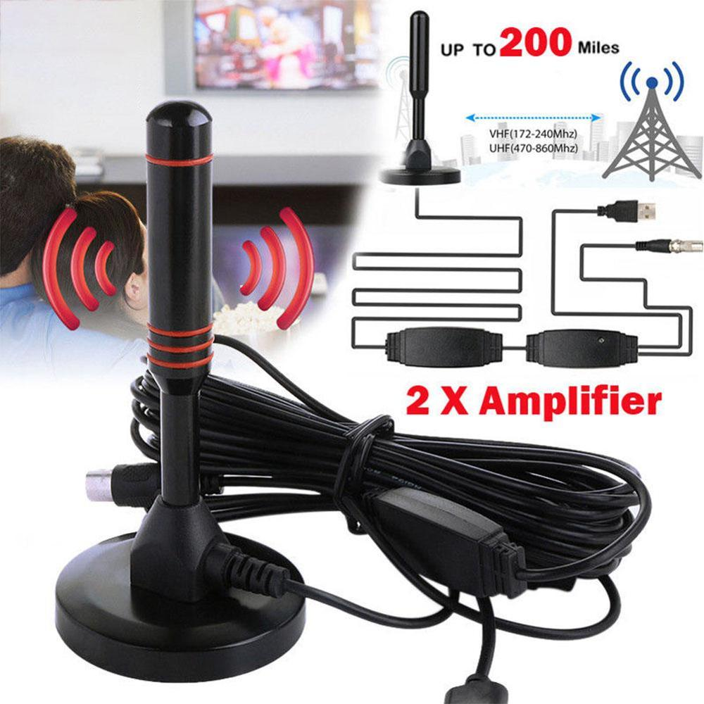 Digital Wireless Television Antennas HDTV TV Antenna Indoor Gain 30dBi Digital DVB-T/FM Aerial Antenna PC For TV HDTV