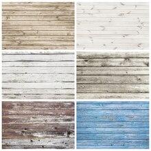 Laeacco Weiß Holz Board Boden Planken Textur Grunge Portrait Fotografie Kulissen Foto Hintergründe Lebensmittel Kuchen Baby Photozone