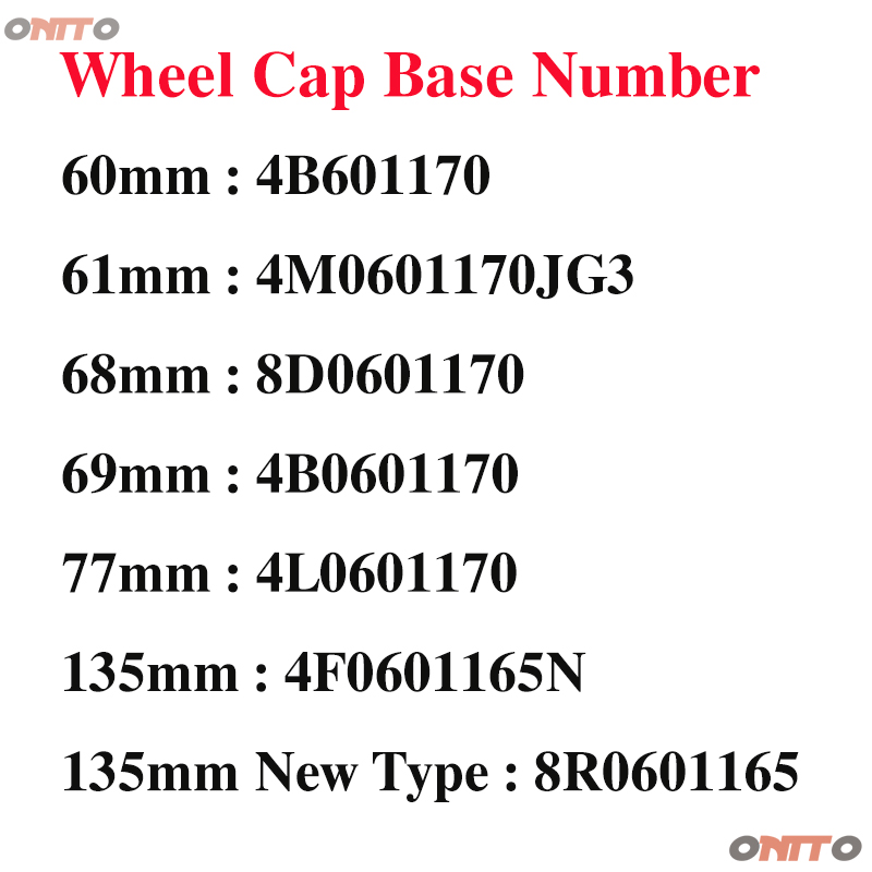 Image 2 - 4pcs gray black 60mm 61mm 68mm 69mm 77mm 135mm 5 Spoke New Grey Black Wheel Center Caps Hubcap Emble For audi car styling-in Wheel Center Caps from Automobiles & Motorcycles