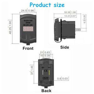 Image 5 - טעינה מהירה 3.0 כפולה USB נדנדה מתג QC 3.0 מהיר מטען LED מד מתח לסירות רכב משאית אופנוע Smartphone Tablet