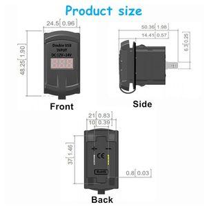 Image 5 - Interruptor de carga rápida 3.0, carregador usb duplo qc 3.0 com led voltímetro para carros, caminhões, motos, smartphones e tablet