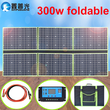 solar panel 300w 18 v/20v flexible foldable portable outdoor home charger kit 5v usb for 12v car RV Boat hiking camping travel