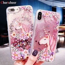 Unicorn Flamingo Y5 2019 Liquid Case For Huawei Y6 Prime 2018 Y7 Pro 2019 Silicon Dynamic Cover For Huawei Y7 2019 Case Y9 2019(China)