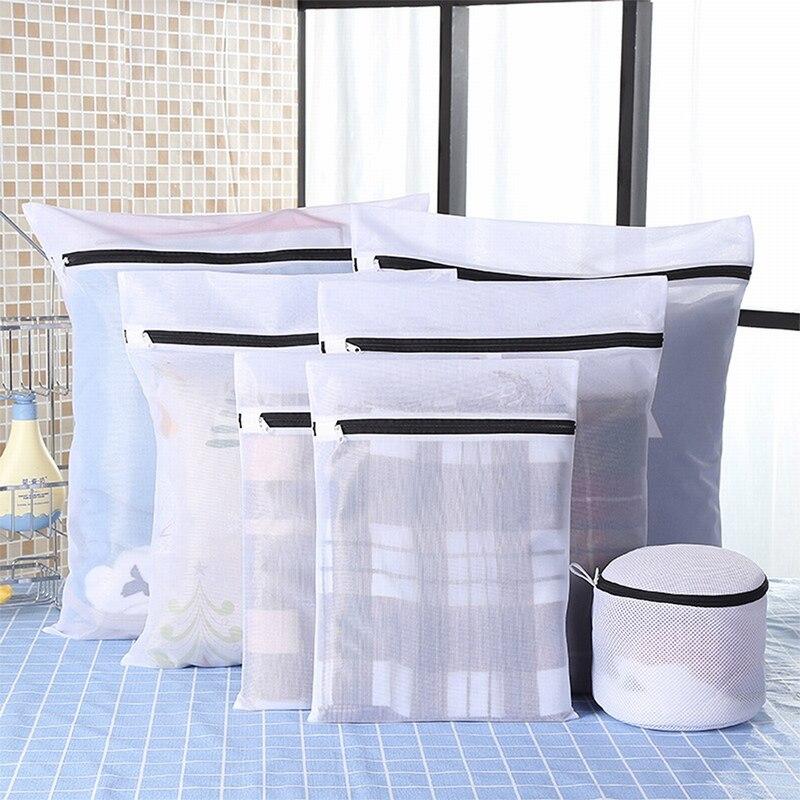 Junejour Clothes Laundry Bag Black Nylon Case For Underwear Clothes Washing Bag Set Machine Laundry Bag Protection Net Mesh Bags