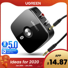 Ugreen Bluetooth RCA Empfänger 5,0 aptX LL 3,5mm Jack Aux Wireless Adapter Musik für TV Auto RCA Bluetooth 5,0 3,5 Audio Empfänger(China)