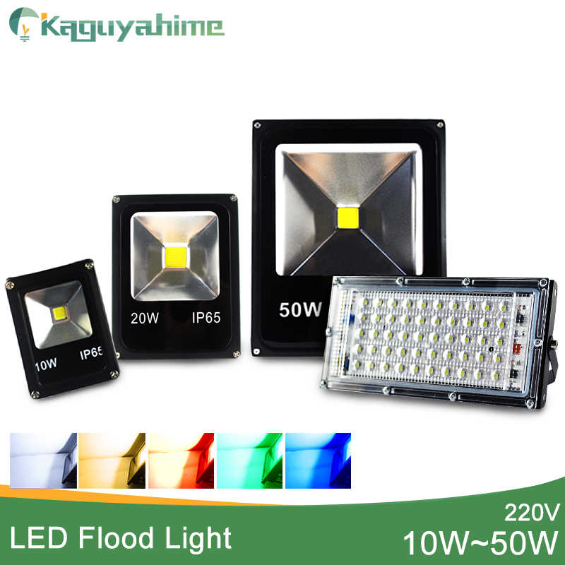 LED Flood Light Outdoor 10W 20W 30W 50W 100W 150W 200W lampu Dinding IP65 Tahan Air Taman 220V 110V RGB Pencahayaan