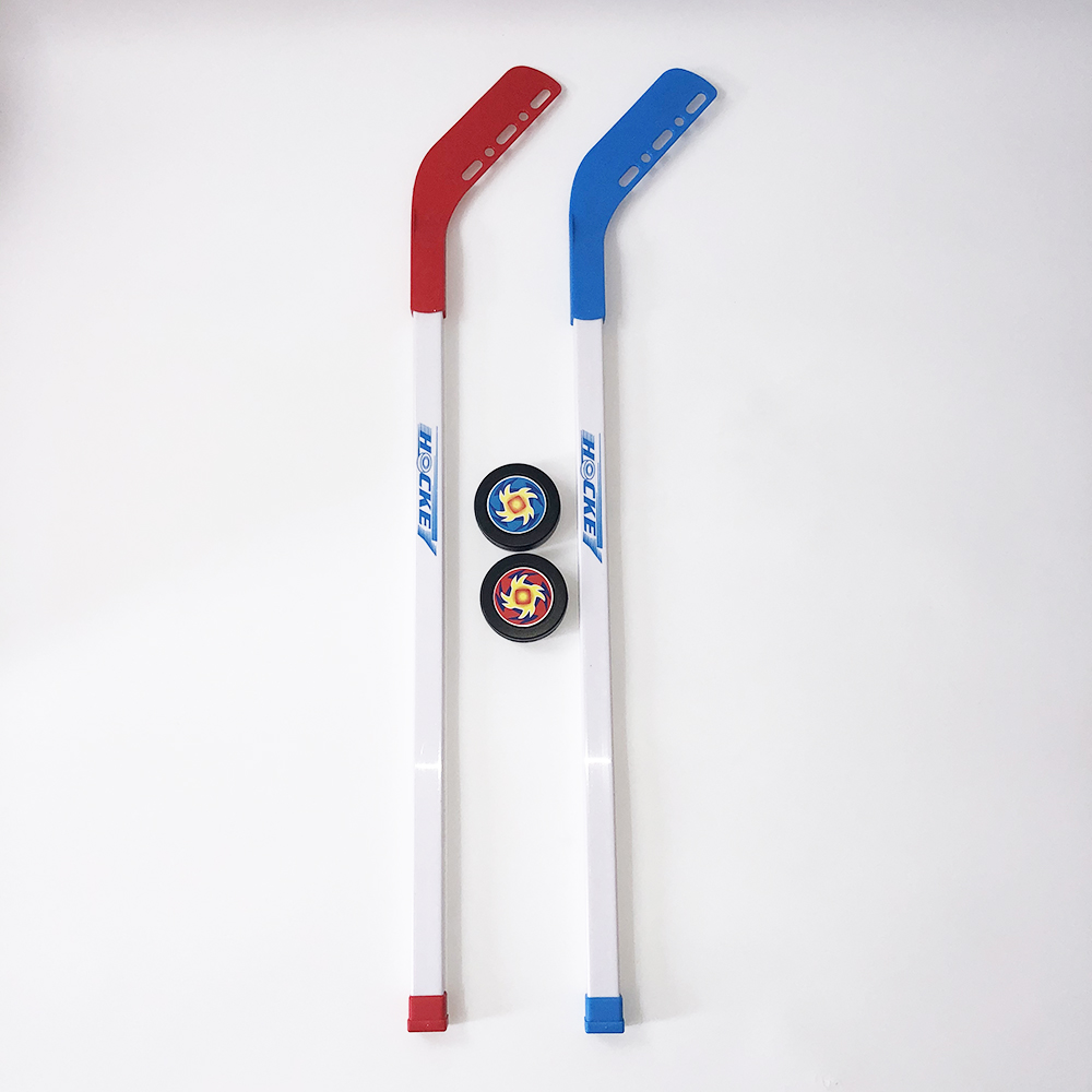 4pcs/set Kids Children Winter Ice Hockey Stick Training Tools Plastic 2xSticks 2xBall Winter Sports Toy Fits For 3-12 Years