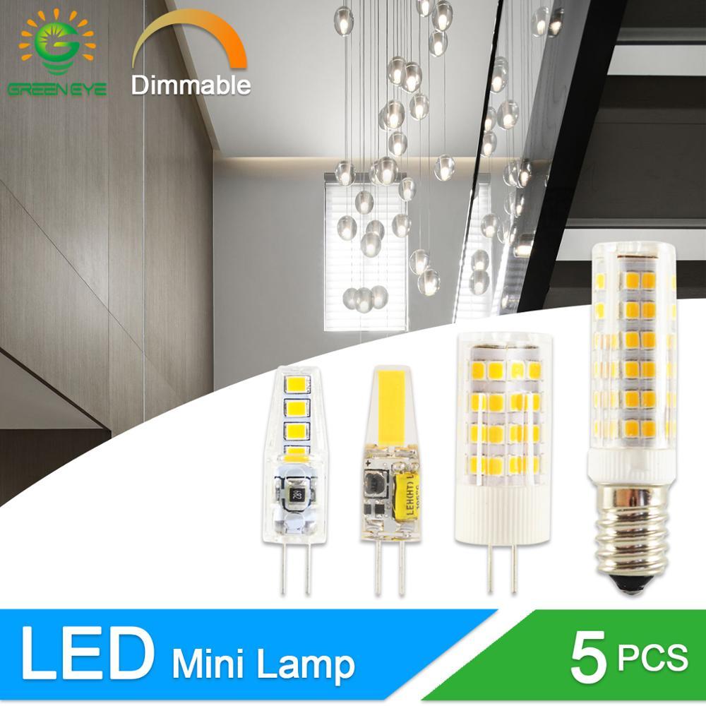 LED G4 Light G9 COB Led Lamp No Flicker Dimmable Ceramic E14 Bulb SMD2835 AC220V DC12V 3W 6W 9W 10W 12W Replace Halogen G4 Lamp