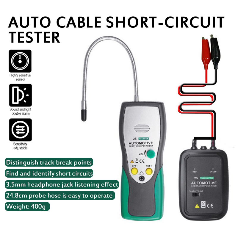 HOT  DY25 Cable Tracker Automotive Short Open Circuit Finder Tester Car Circuit Scanner Open  amp  Short Dc Circuit Tester EM415
