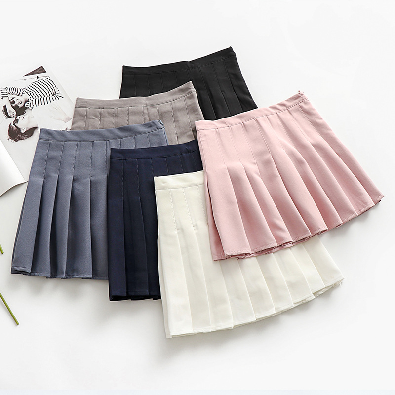 Photo Shoot 2019 Summer New Style Slimming Short Skirt Students Korean-style Pleated Skirt High-waisted A- Line Skirt Women's IN
