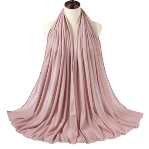 Image 4 - 10pcs/lot Women Muslim Jersey Hijab Scarf Foulard Femme Size Plus Hijabs Islamic Shawls Soild Modal Headscarf For Women