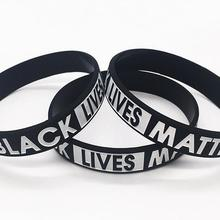 Bracelets Cheerleading-Souvenir Or Black FEDEX 500PCS Wristband Matter Silicone DHL Lives