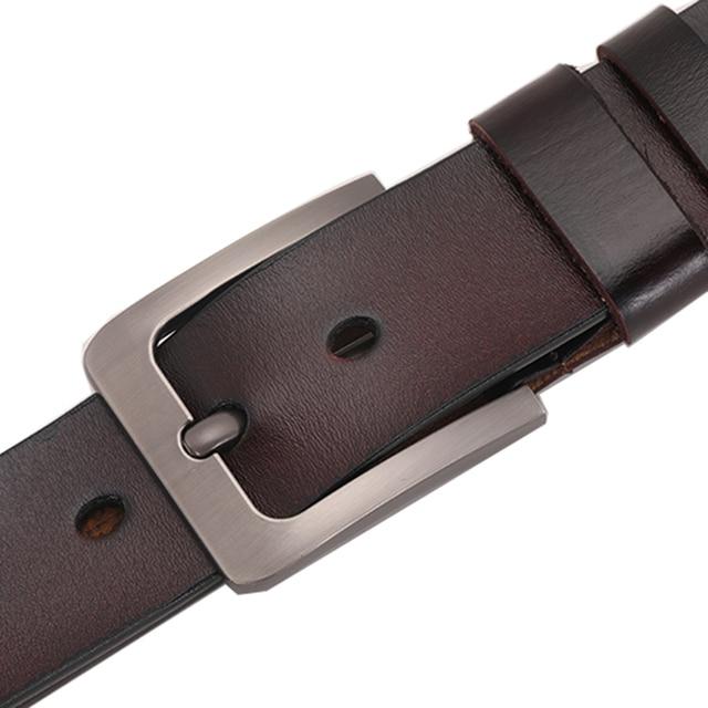 Retro Pin Genuine Leather Men's Leisure Belt 5