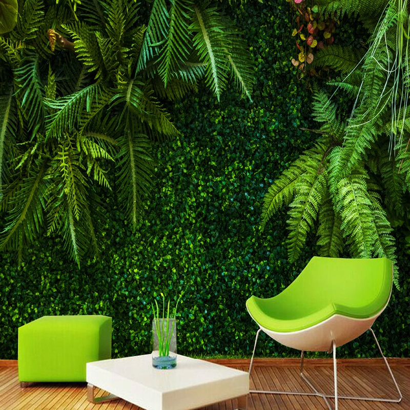Custom 3D Wallpaper Rainforest Green Leaves Murals Restaurant Cafe Living Room TV Home Decor Background Wall Painting Frescoes