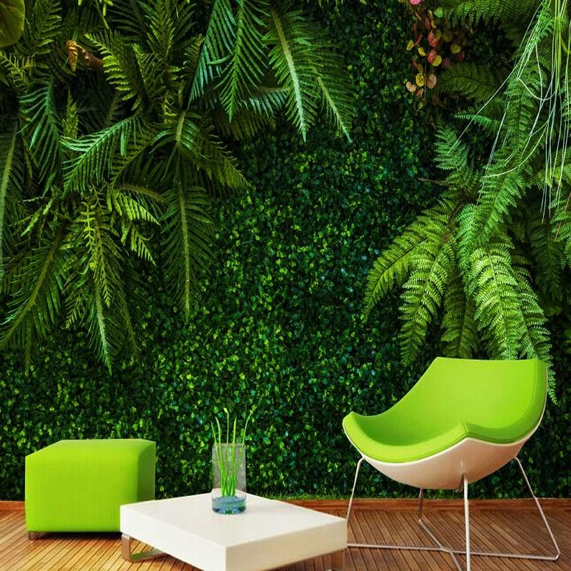 Custom 3D Wallpaper Rainforest Green Leaves Murals Restaurant Cafe Living Room TV Home Decor Background Wall Painting Frescoes