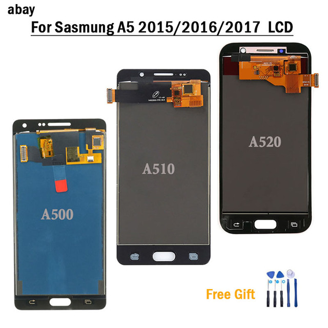 For Samsung Galaxy A520 A520F SM A520F A5 2017 2015 2016 A510 A500 LCD Display Touch Screen Digitizer Glass Assembly Replacement