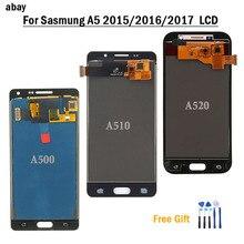 Samsung Galaxy A520 A520F SM A520F A5 2017 2015 2016 A510 A500 LCD ekran dokunmatik ekran Digitizer cam meclisi değiştirme