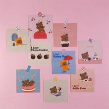 Cute Little Bear Illustration Card Suit Single side Girl Room Wall Postcard Decorative Sticker Stationery Diy Photo Props