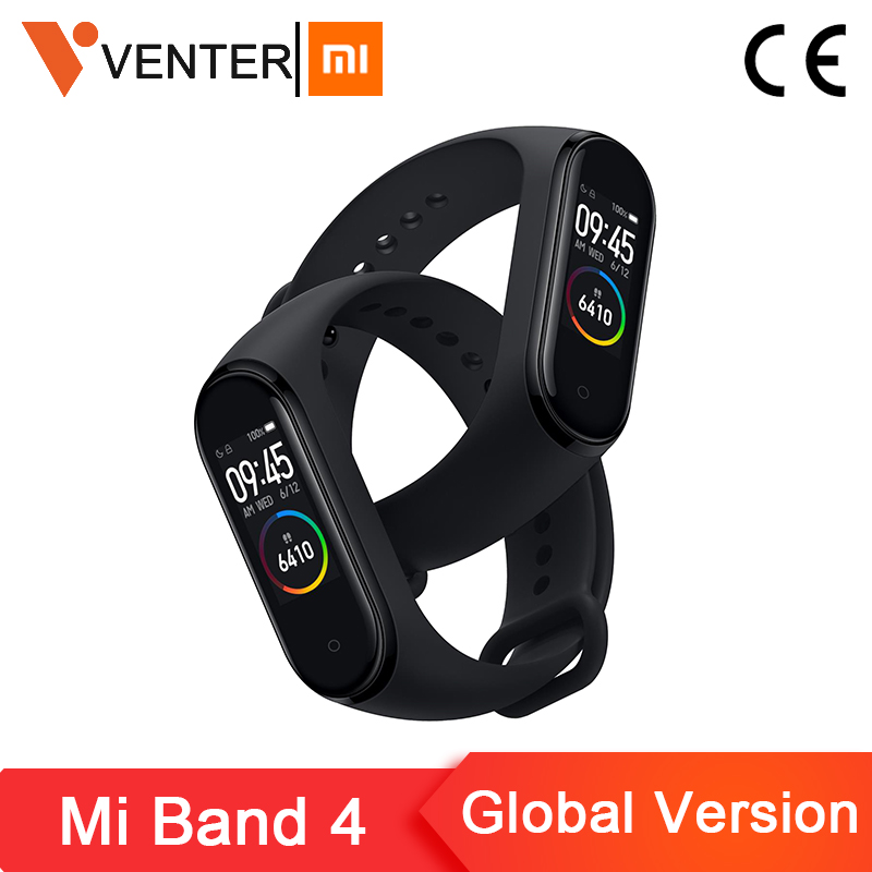 2019 Global Version Xiaomi Mi Band 4 Smart Miband 4 Bracelet Heart Rate 135mAh Color Screen AI Fitness Tracker xiaomi mi band 4